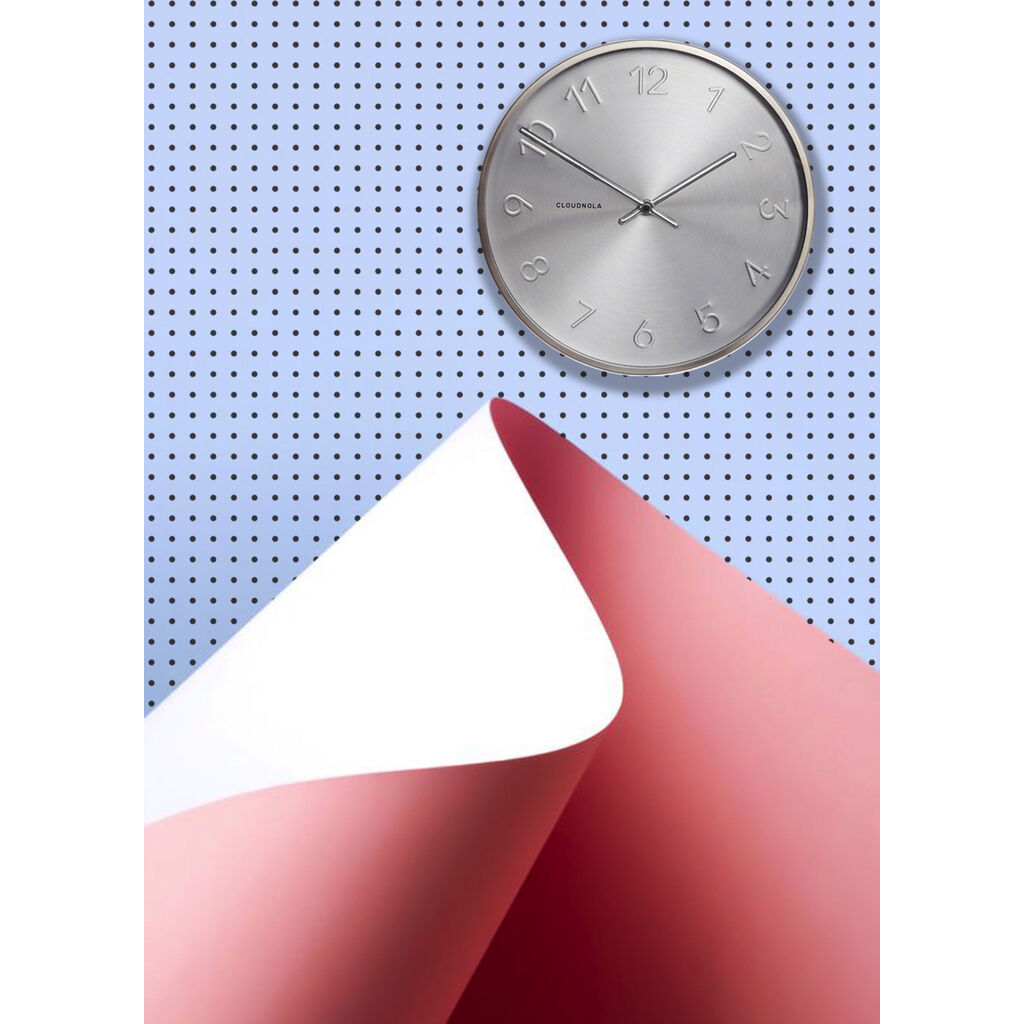 Cloudnola Trusty Wall Clock | Dutch Silver Diam 12 SKU0011