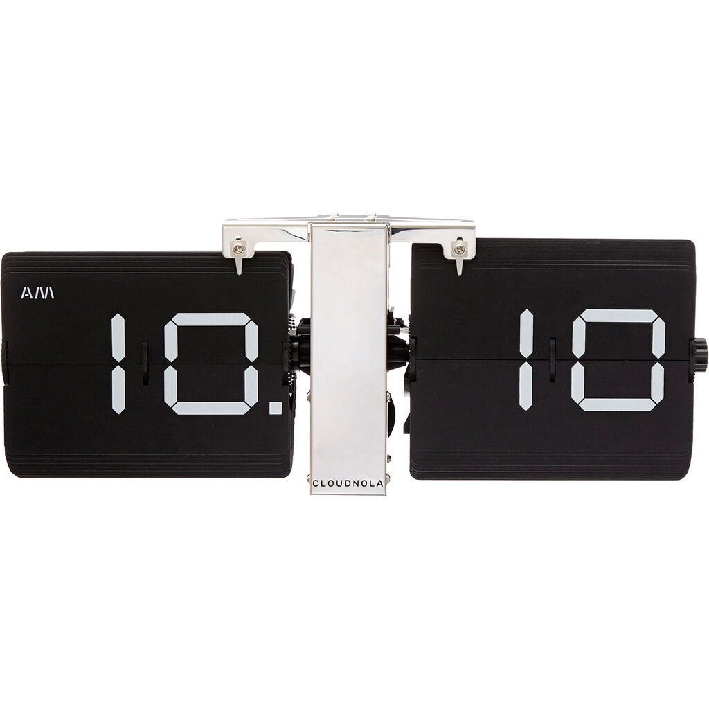 Cloudnola Flipping Out Wall Clock | Metal Black SKU0013