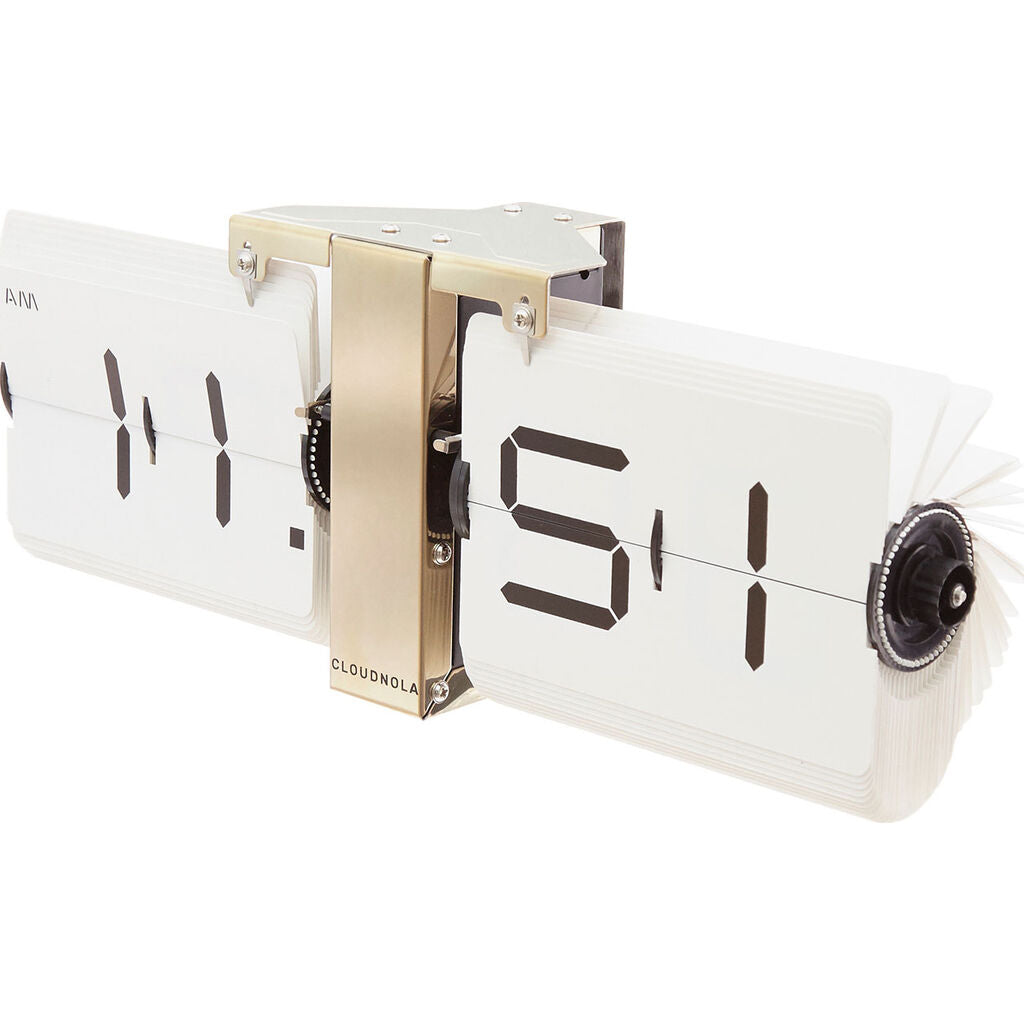 Cloudnola Flipping Out Wall Clock | Metal White SKU0015