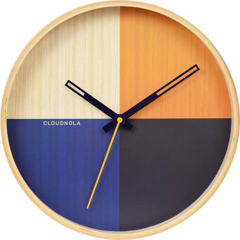 Cloudnola Flor Wall Clock | Wood Red Diam 12 SKU0045