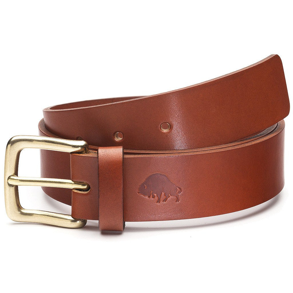 Ezra Arthur No. 1 Belt | Cognac/Brass Buckle Sizes 32-42 CBT119B