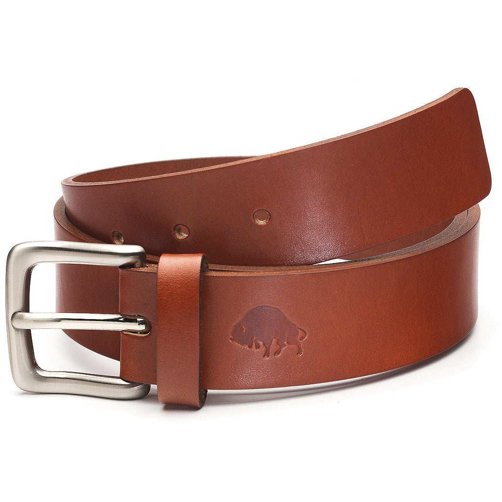 Ezra Arthur No. 1 Belt | Cognac/Nickle Buckle Sizes 32-42 CBT119N