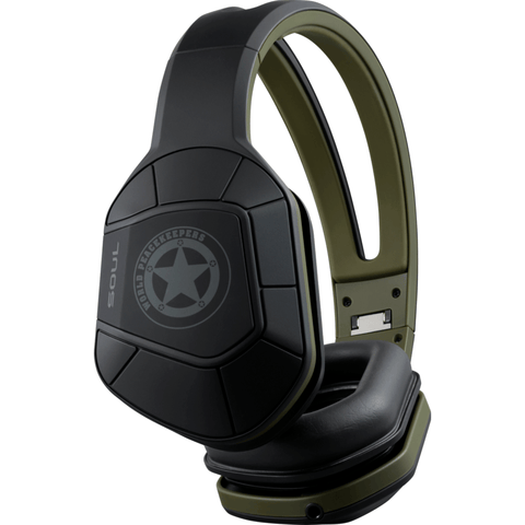Soul Combat+ Active Performance Over-Ear Headphones | Army Green