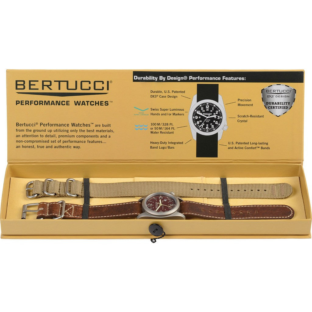 Bertucci A-2T Field Colors Boxed Set | Horween Nut Brown Leather + Coyote Nylon 02090