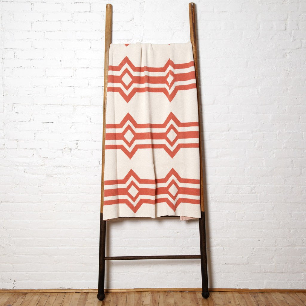 in2green Serape Eco Throw | Milk/Coral BL01SP23