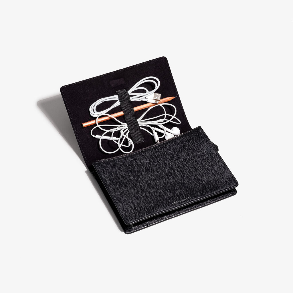Hook & Albert Cord Leather Wallet | Black CRDWLT-LTH-BLK