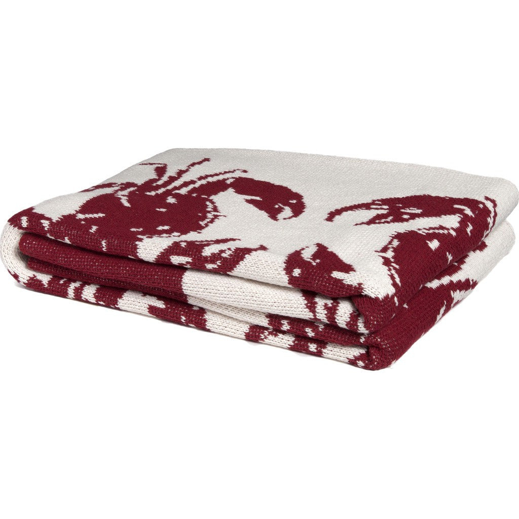 in2green Crab Eco Throw | Milk/Pomegranate BL01CR1