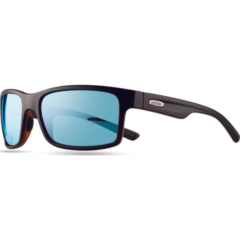 Rēvo Eyewear Crawler Xl Matte Black Sunglasses | Blue Water