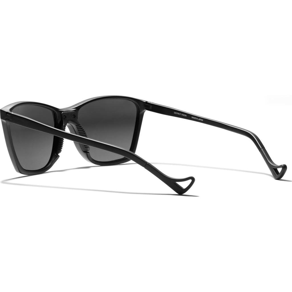 District Vision Keiichi District Water Gray Sunglasses | Black