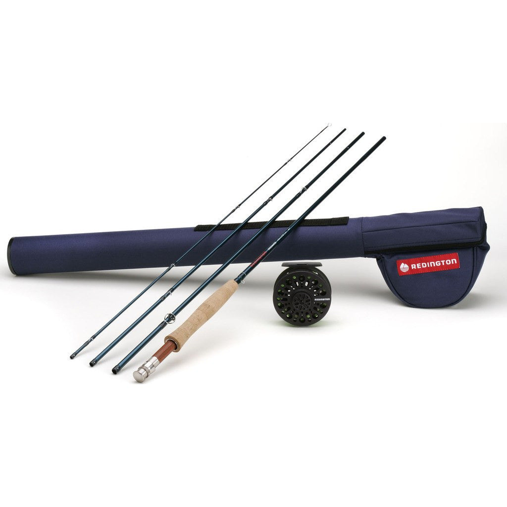 Redington 4 piece fly fishing set crosswater 690 combo 5 for Fishing rod set