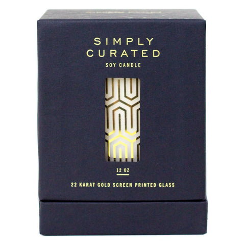 Simply Curated The Cocktail Collection 22K Gold Soy Candle | Cucumber Sweetgrass