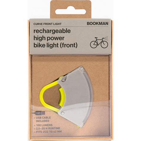 Bookman Curve Front Light | Grey / Acid Yellow