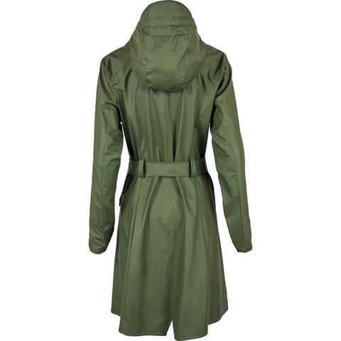 RAINS Waterproof Curve Jacket | Green 1206 XS/S