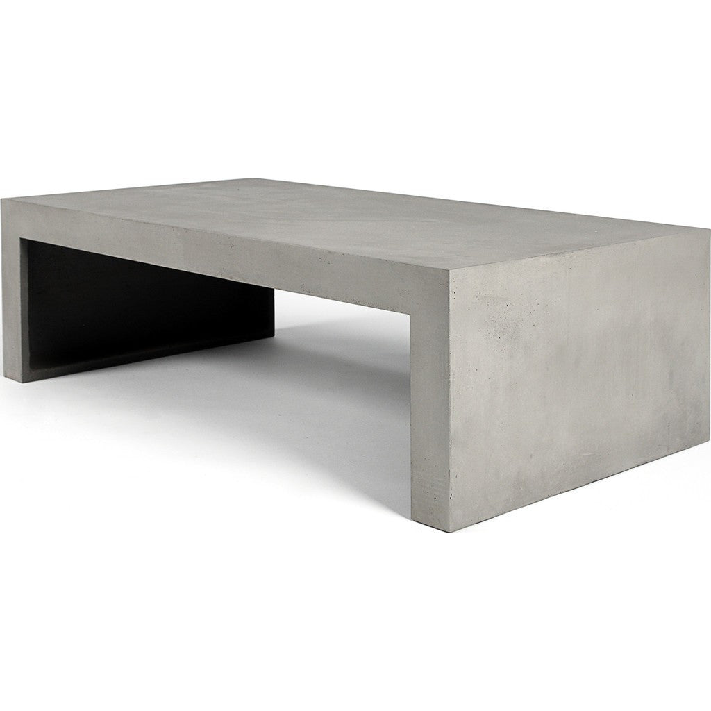 Lyon Beton Dawn Rectangular Low Coffee Table | Light Grey  D-09017_40