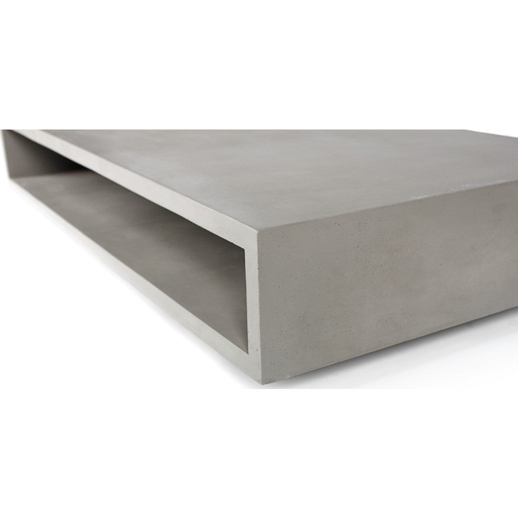 Lyon Beton Monobloc XL Rectangular Coffee Table | Light Grey  D-09545