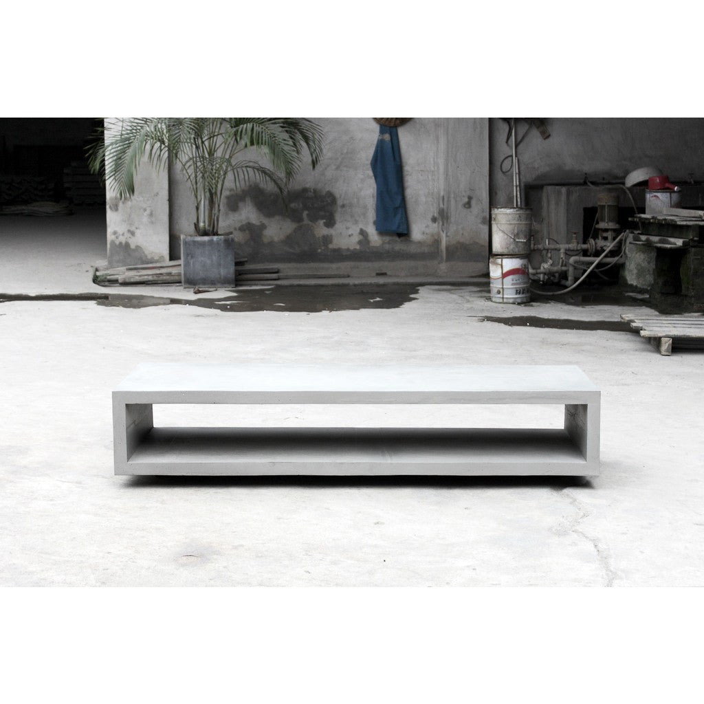 Lyon Beton Concrete Cube Monobloc Tv Bench With Wheels Light Grey  # Meuble Tv California