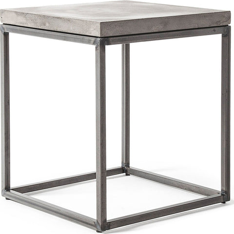 Lyon Beton Perspective Side Table | Light Grey  D-09156-PE-003