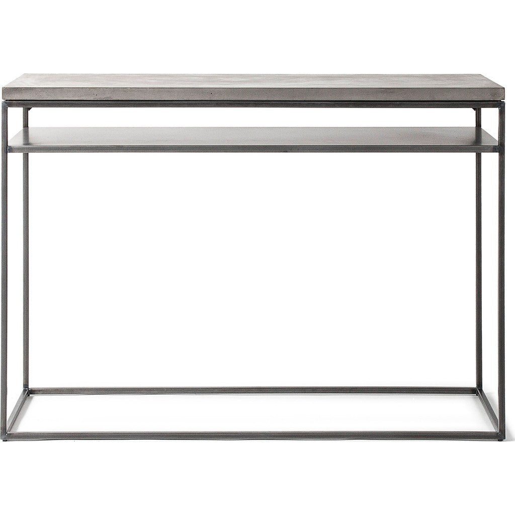 Lyon Beton Perspective Console with Shelf | Light Grey  D-09160-PE-002