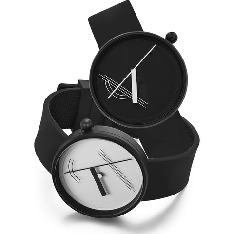 Projects Watches Diagram 17 White Watch | Black Silicone 7217W-BS