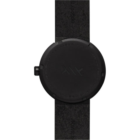LEFF Amsterdam D38 Tube Watch | Black/Black Leather Strap LT71013