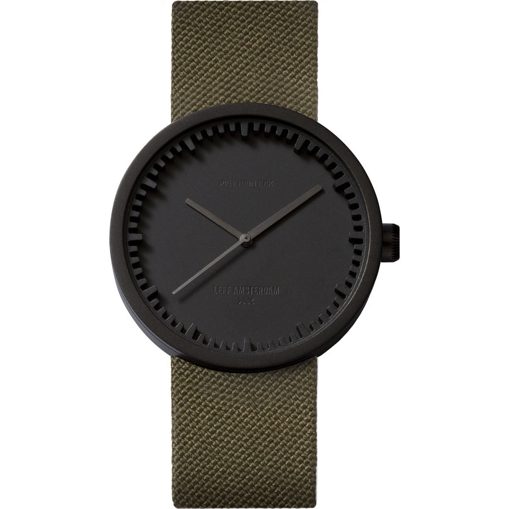 LEFF amsterdam D38 Tube Watch | Black/Green LT71014
