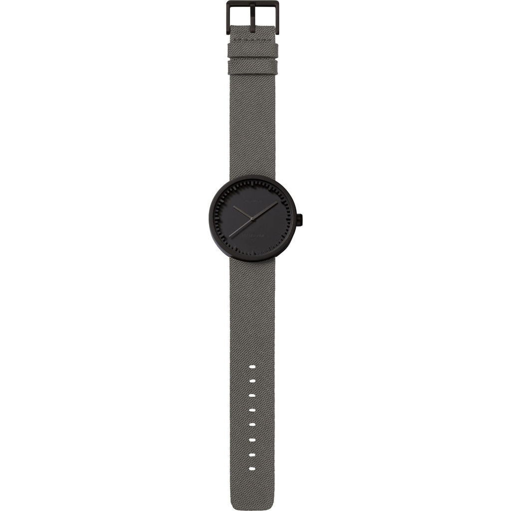 LEFF amsterdam D38 Tube Watch | Black/Grey LT71015