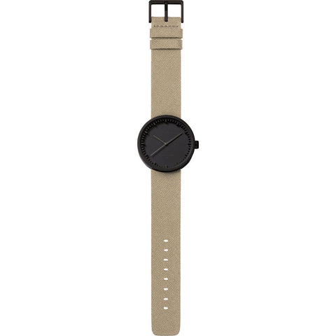 LEFF amsterdam D38 Tube Watch | Black/Sand LT71013