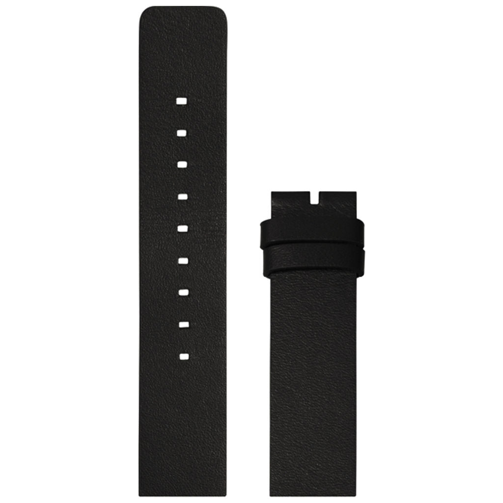 LEFF amsterdam Leather Strap for D38 Tube Watch | Black LT71091