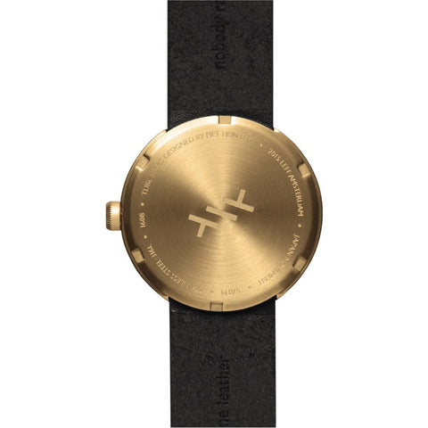 LEFF Amsterdam D38 Tube Watch | Brass/Brown Leather Strap LT71024