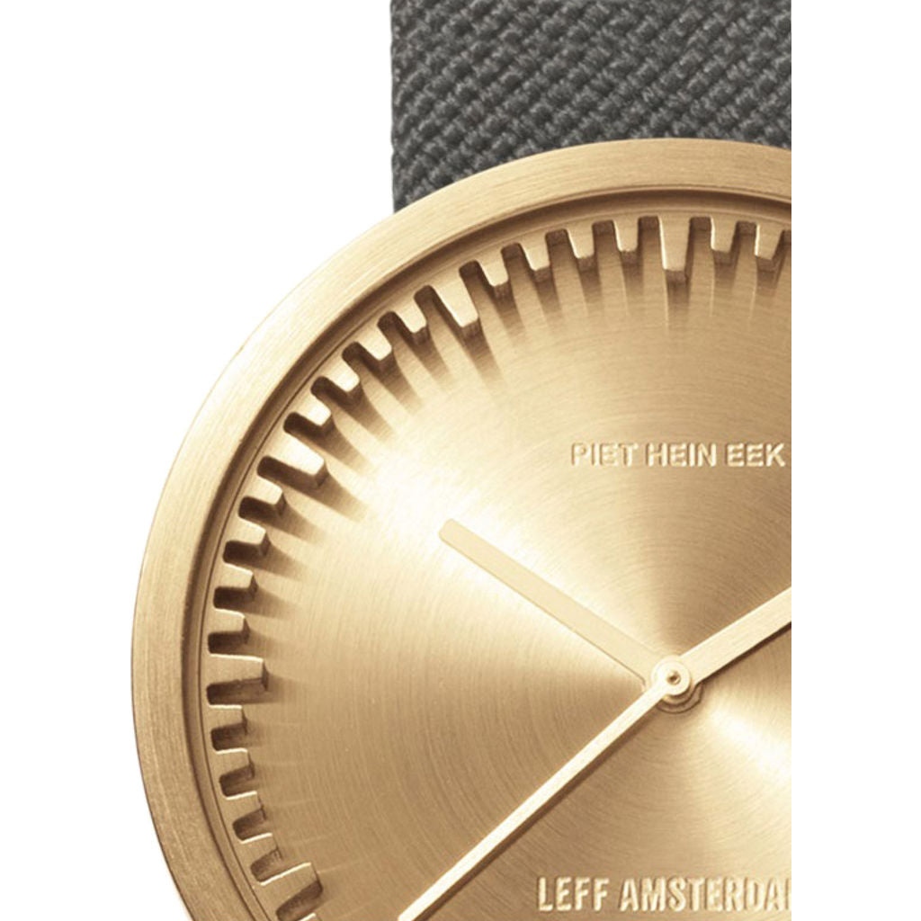 LEFF amsterdam D38 Tube Watch | Brass/Grey LT71025