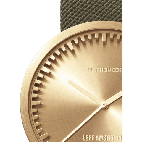 LEFF amsterdam D38 Tube Watch | Brass/Green LT71024