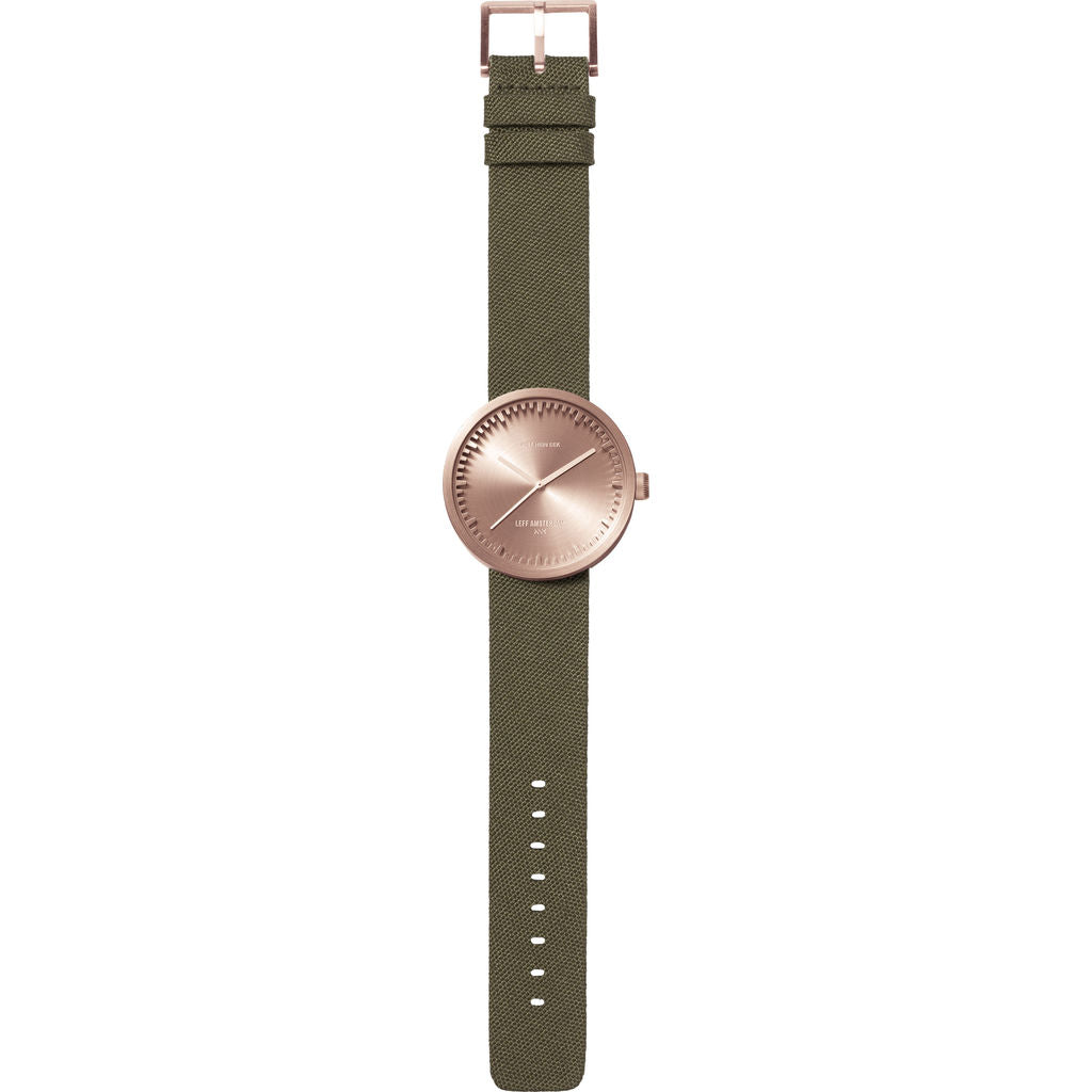 LEFF amsterdam D38 Tube Watch | Rose Gold/Green LT71034