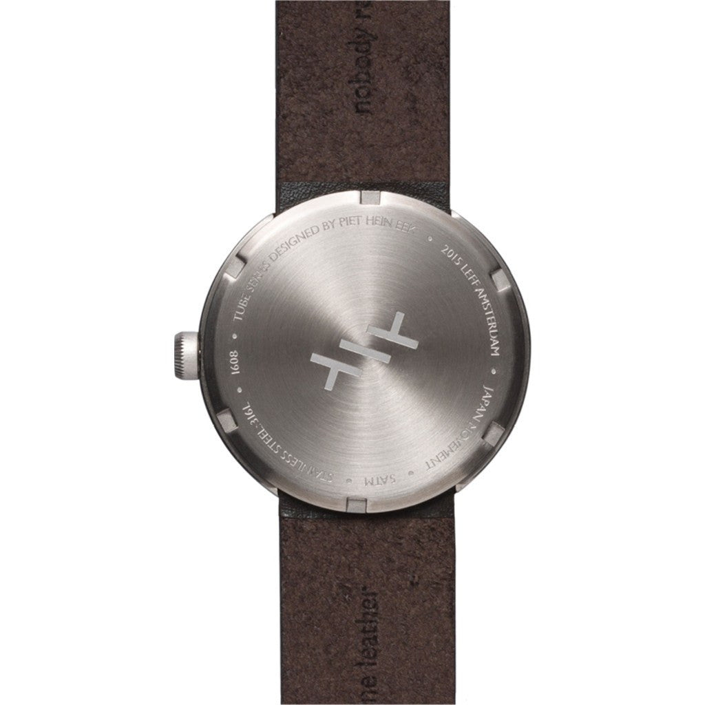 LEFF Amsterdam D38 Tube Watch | Steel/Brown Leather Strap LT71004