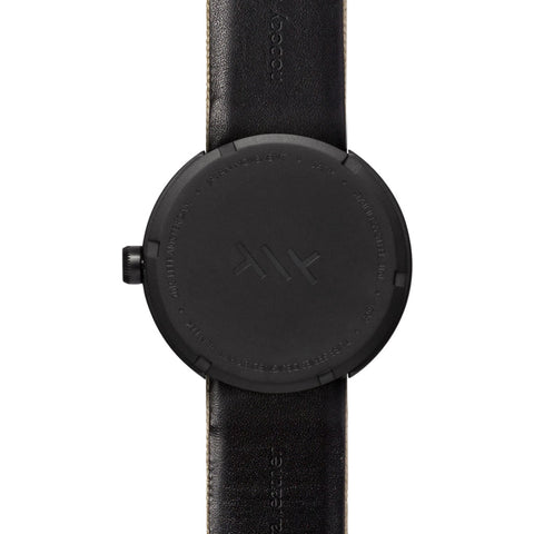 Leff Amsterdam D42 Tube Watch Cordura Leather | Black/Sand