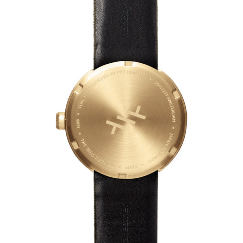 Leff Amsterdam D42 Tube Watch Cordura Leather | Brass/Green
