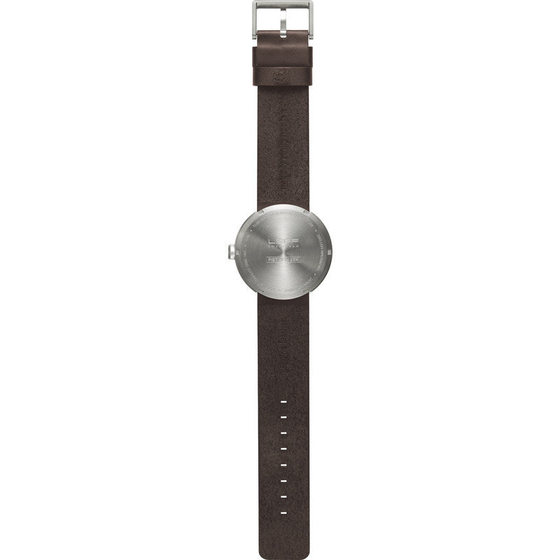 LEFF amsterdam D42 Tube Watch | Steel/Brown Leather Strap