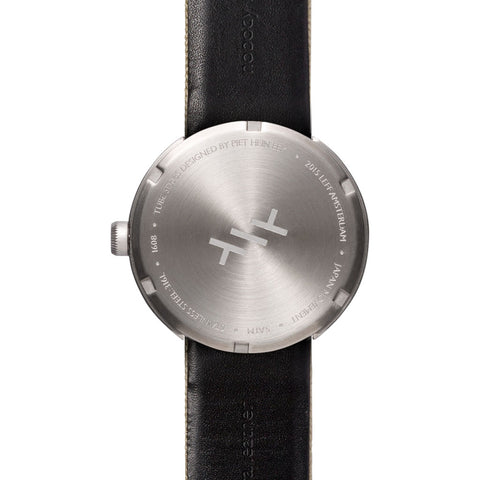 Leff Amsterdam D42 Tube Watch Cordura Leather | Steel/Sand