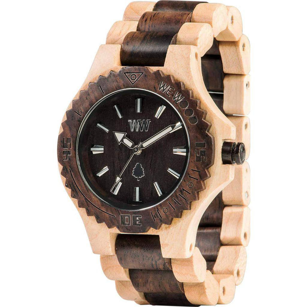 WeWood Date Maple/Rosewood Wood Watch | Beige/Chocolate
