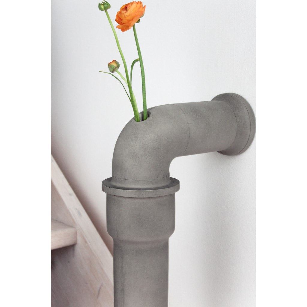 Beton Vase lyon beton pipeline stem vase medium light grey sportique