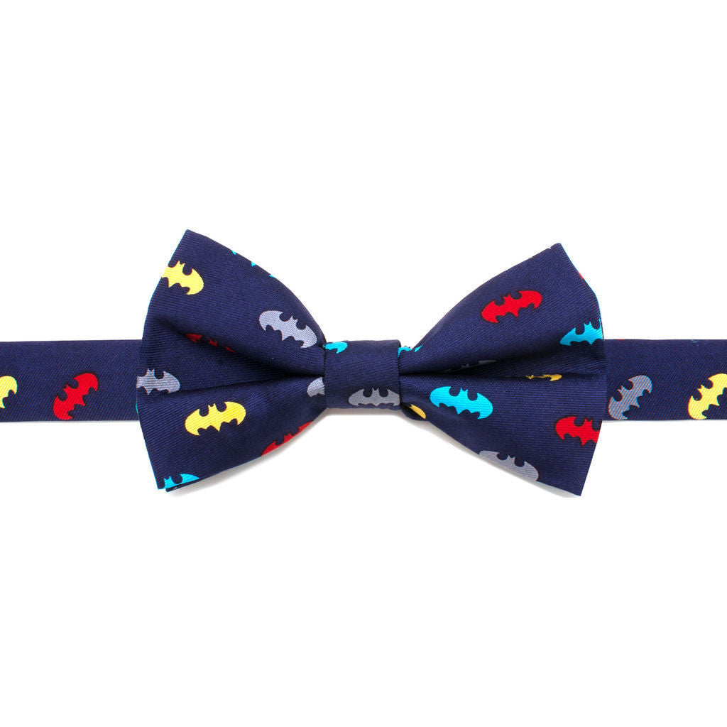 Cufflinks DC Batman Big Boys' Silk Bow Tie | Navy Blue DC-BAT1M-KBT-BB