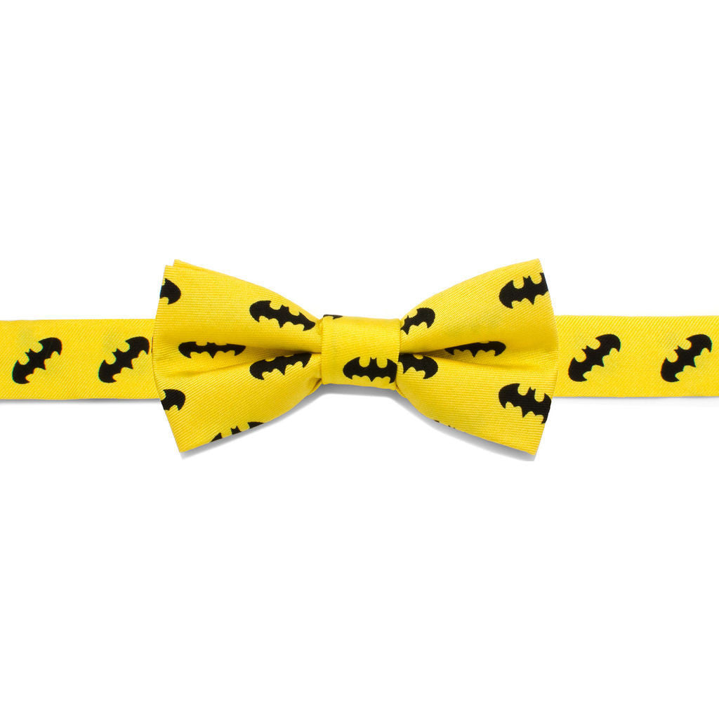 Cufflinks DC Batman Boys' Silk Bow Tie | Yellow DC-BAT1Y-KBT