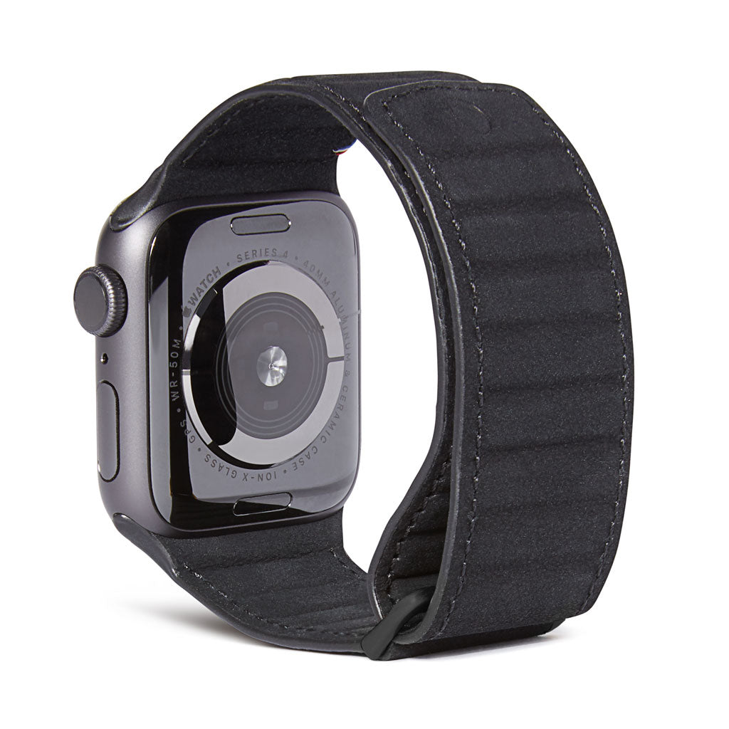 Decoded Leather Magnetic Traction Apple Watch Strap | 40mm - 38mm/Black