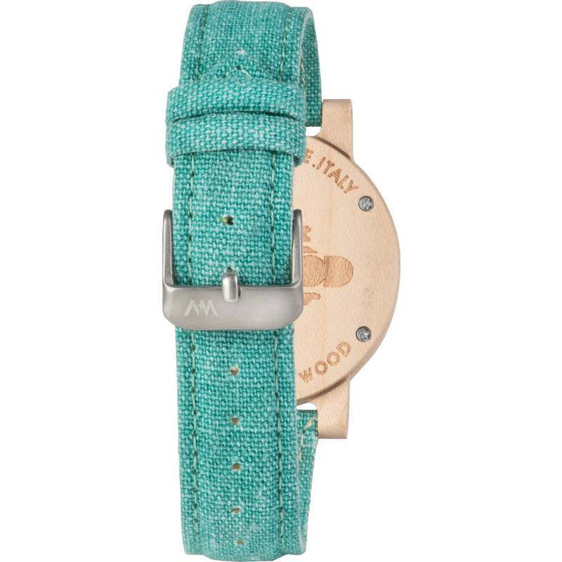 WeWood Dehna Maple Wood Watch | Beige/Cyan