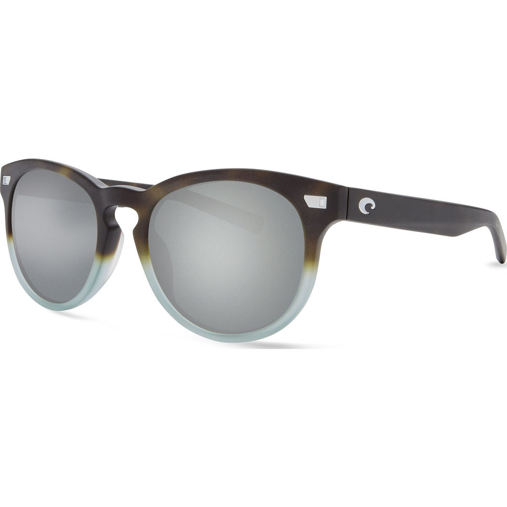 Costa Del Mar Matte Tide Pool Sunglasses | Gray Silver Mirror 580G