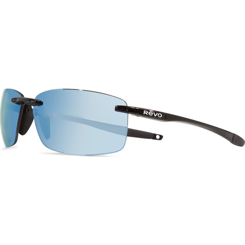 Rēvo Eyewear Descend Xl Black Sunglasses | Blue Water