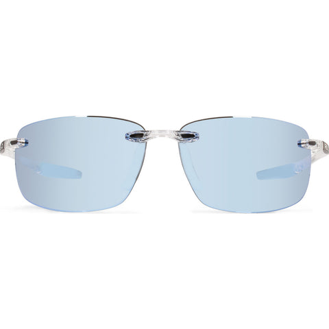 Rēvo Eyewear Descend Xl Crystal Sunglasses | Blue Water