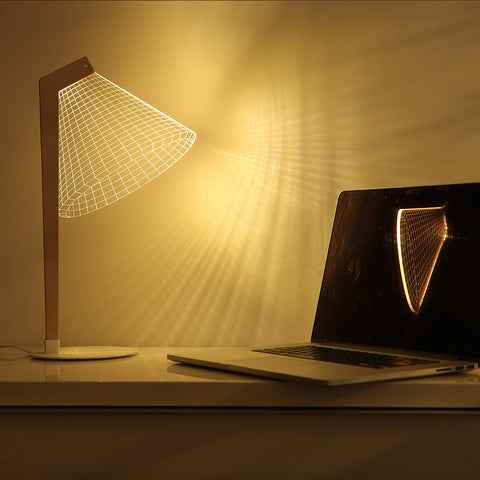 Studio Cheha Deski LED Table Lamp | Iron/Birch/Acrylic