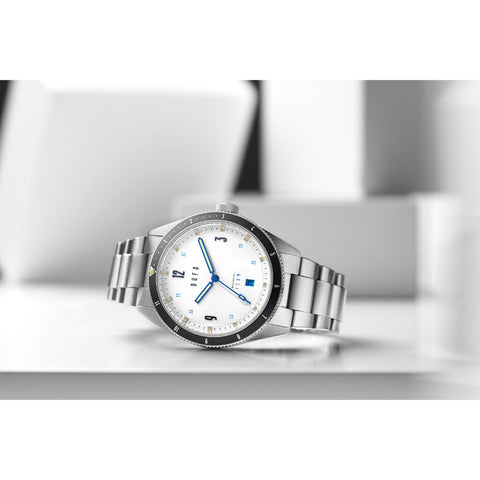 DuFa FREITAUCHER AUTOMATIC Watch | White / Stainless Steel DF-9034-22