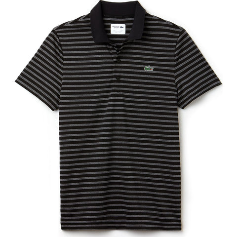 Lacoste Men's Sport Striped Technical Jersey Golf Polo