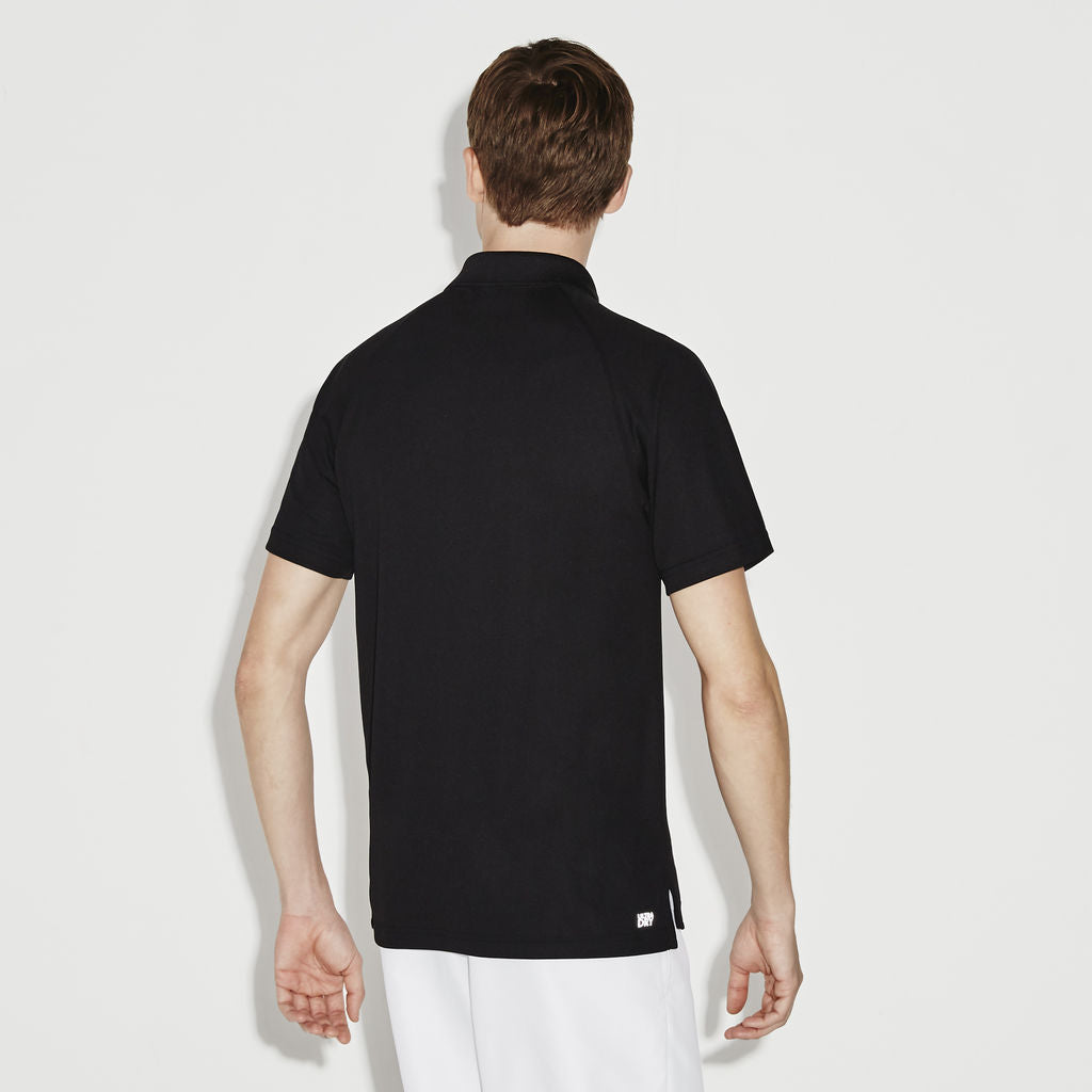 37cd6f98 Lacoste Sport Tennis Pique Men's Polo Shirt in Black - Sportique